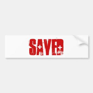 SAVED BUMPERSTICKER BUMPER STICKER