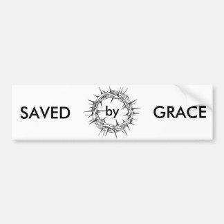 Saved by Grace Bumper Sticker