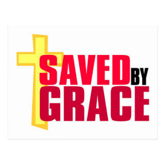 Saved by Grace Christian gift design Postcard