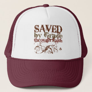 Saved by Grace Trucker Hat