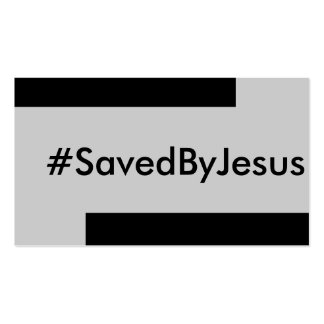 saved by Jesus Double-Sided Standard Business Cards (Pack Of 100)