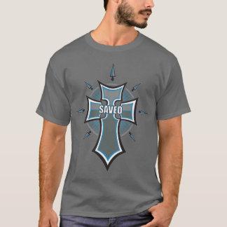 SAVED Christian Blue Cross T-Shirt