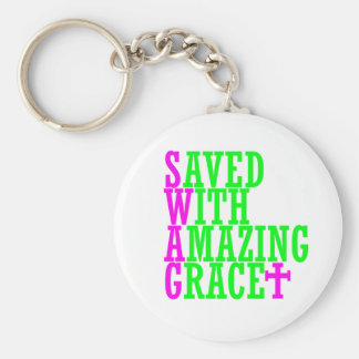Saved With Amazing Grace SWAG Christian Keychain