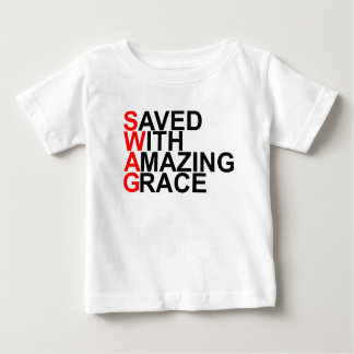 Saved With Amazing Grace (SWAG).png Tshirts