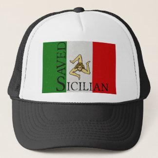 savedsicily trucker hat