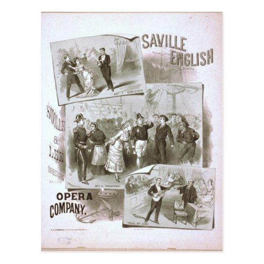 Saville English, 'Opera Company' Retro Theatre Postcard
