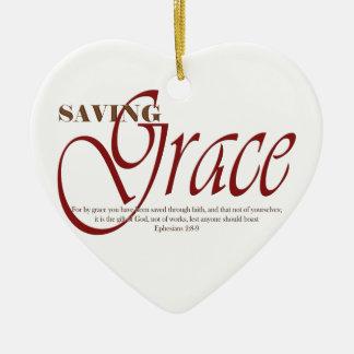 Saving Grace Ceramic Heart Ornament