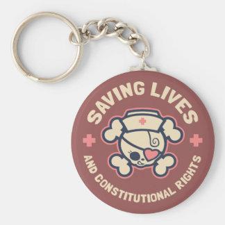 Saving Lives & Rights Keychain