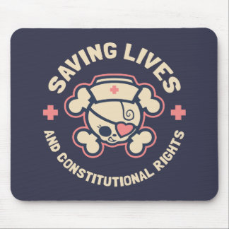 Saving Lives & Rights Mouse Pad