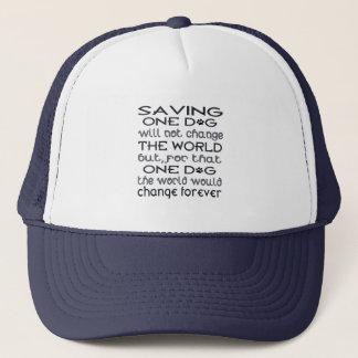 Saving One Dog Hat
