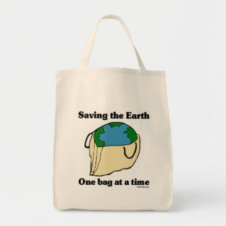 Saving the Earth totebag Tote Bag