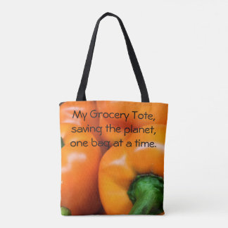 Saving the planet grocery tote. tote bag