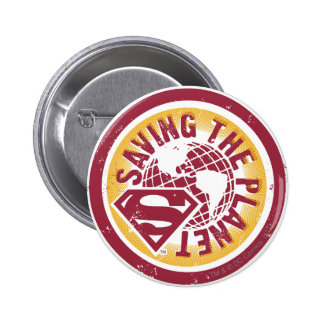 Saving the planet red circle 2 inch round button