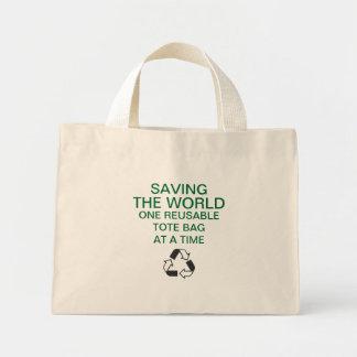 Saving the World Reusable Tote Bag
