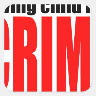 SAVINGCHILDISACRIME harambe killed killing childre Square Sticker