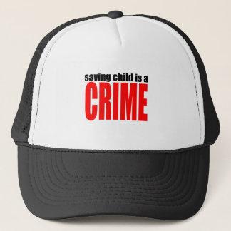 SAVINGCHILDISACRIME harambe killed killing childre Trucker Hat