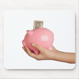 Savings in piggy bank mouse pad