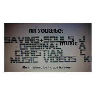 Savingsoulzmusic evangelism cards. business card