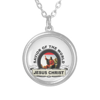 savior of the world jc silver plated necklace