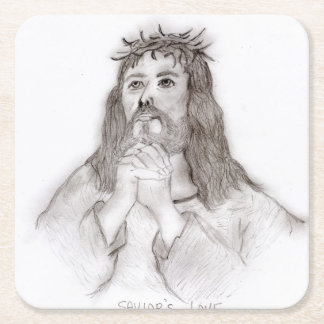 Savior's Love Square Paper Coaster