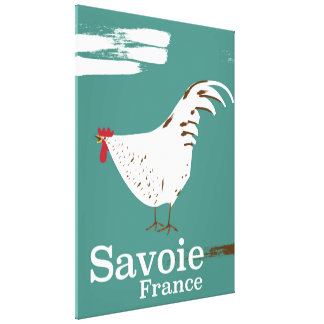 Savoie France Cockerel travel poster Canvas Print