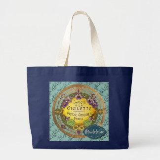 Savon a la Violette (Violet scented soap) Large Tote Bag
