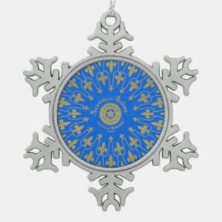 Savon de la Reine Soap Label Snowflake Pewter Christmas Ornament