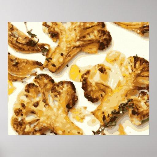 Savory Broccoli and Cauliflower Saute Print