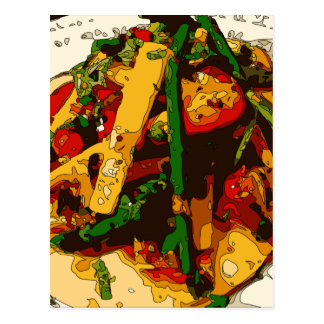 Savory Green Pea and Tomato Veggie Saute Dish Post Cards