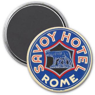 Savoy Hotel, Rome, Italy Vintage Magnet