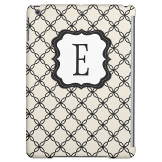 Savvy Black and White Monogram iPad Air Case