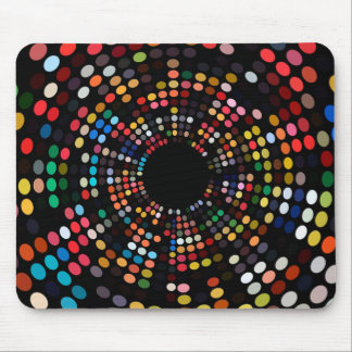 Savvy Colorful Light Dots Mousepad