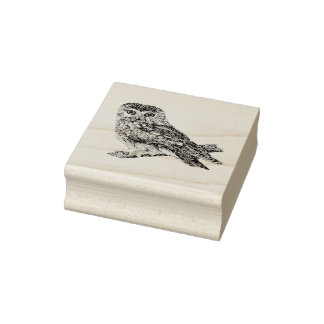 Saw Whet Owl Rubber Stamp