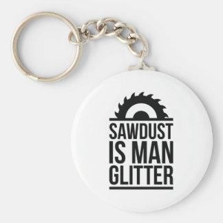 Sawdust Is Man Glitter Basic Round Button Keychain