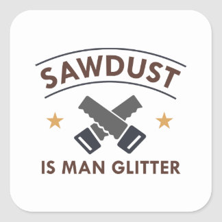 Sawdust Square Sticker