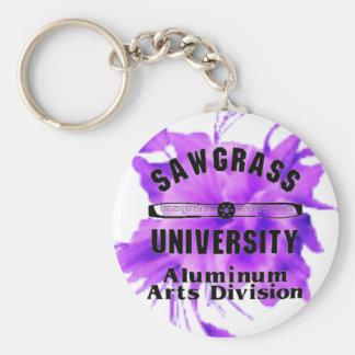 SAWGRASS UNIVERSITY ALUMINUM ARTS DIVISION LOGO KEY CHAINS