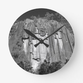 Sawn Rocks in Black & White Wall Clocks