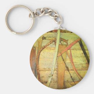 Saws Basic Round Button Keychain