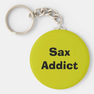 Sax Addict - saxophone Basic Round Button Keychain
