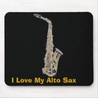 sax, I Love My Alto Sax Mouse Pad