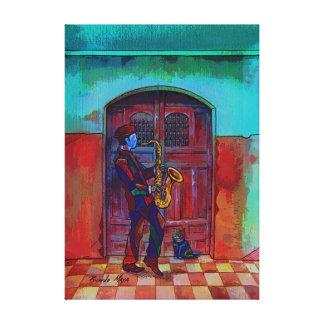Sax in Midnight. Canvas Print