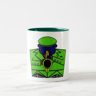 Sax Man Two-Tone Coffee Mug