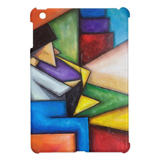 Sax player abstract painting for iPad case
