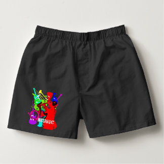 Sax Player Musical Instrument Medley Music Graphic Boxers
