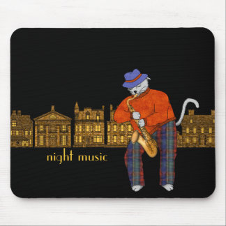 Sax Plays Night Music Mouse Pad
