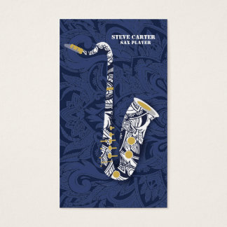 Sax Saxophone Player Music Artist Card