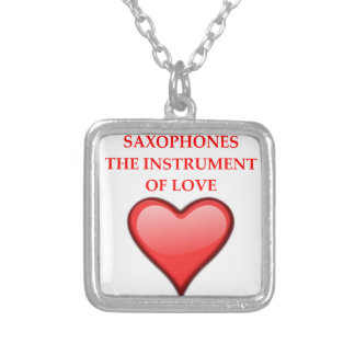 SAX SILVER PLATED NECKLACE