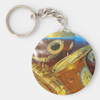 saxaphone By Lenny Basic Round Button Keychain