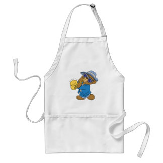 Saxaphone Jazz Blues Bear Standard Apron