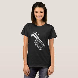 Saxhorn/Tuba Silhouette Black T-Shirt